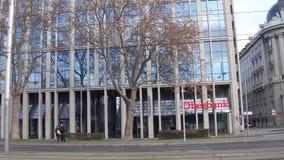 维也纳,奥地利- 12月, 24个Oberbank办公室 库存图片