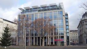 维也纳,奥地利- 12月, 24 Oberbank办公室外部 库存图片