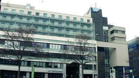 维也纳,奥地利- 12月, 24 SAP办公室外部 免版税库存图片