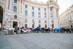 维也纳,奥地利- 2015年10月19日:传统古板的f 库存照片