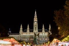 维也纳,奥地利- 2015年11月13日:传统圣诞节市场 库存照片