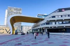 维也纳,奥地利- 2015年11月14日:在财政区的看法在维也纳 免版税库存照片
