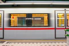 维也纳,奥地利- 2015年10月20日:在Hutteldorf s的地铁 免版税图库摄影