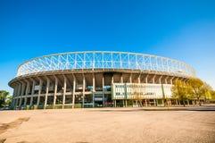 维也纳,奥地利- 2016年4月21日:恩斯特・哈佩尔体育场的外部 免版税库存照片