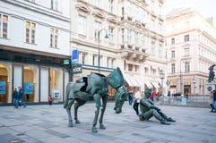 维也纳,奥地利- 2015年10月19日:法国艺术的雕塑 库存图片