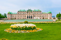维也纳,奥地利- 2016年4月23日:眺望楼公园 库存照片