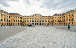 维也纳,奥地利- 2016年10月08日:美泉宫在维也纳 观光的对象在维也纳,奥地利 免版税图库摄影