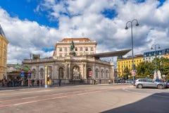维也纳,奥地利- 2016年10月05日:阿尔贝蒂娜博物馆 有staterooms汇集的19世纪哈里斯堡宫殿的老主人印刷品和2 图库摄影