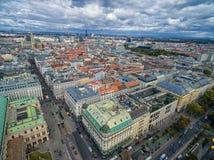 维也纳,奥地利- 2016年10月05日:维也纳都市风景,奥地利 免版税库存图片