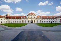 维也纳,奥地利/2015年10月24日:贝尔维德雷宫 免版税图库摄影