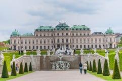 维也纳,奥地利- 2016年4月23日:贝尔维德雷宫 图库摄影