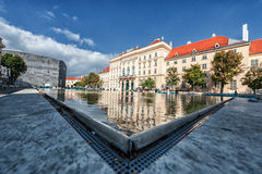 维也纳,奥地利- 2016年10月07日:MuseumsQuartier和当代艺术博物馆、奥地利建筑学&都市设计博物馆vi的 免版税库存图片