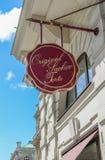 维也纳,奥地利- 2016年6月01日:Sachertorte商标 Sacher蛋糕我 图库摄影