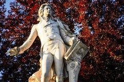 维也纳,莫扎特雕象  库存照片