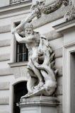 维也纳,细节fo霍夫堡宫 免版税库存照片