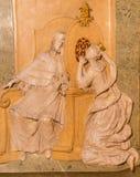 维也纳-从圣约翰教堂的安心Nepomuk在st Annes教会里 库存图片