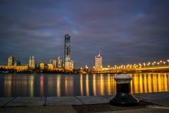 维也纳-多瑙河市 免版税库存照片