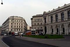 维也纳-奥地利的首都 根据研究机构绸缎商的结果,维也纳在质量的世界占了优势 免版税库存照片