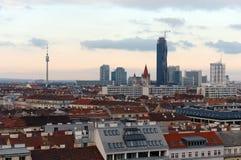 维也纳-奥地利的首都 根据研究机构绸缎商的结果,维也纳在质量的世界占了优势 库存照片