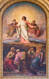 维也纳-摩西壁画法老王场面的从19。分。在Altlerchenfelder教会里 图库摄影