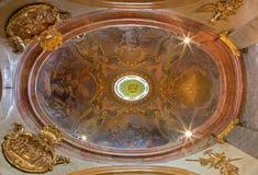 维也纳-从教堂的圆屋顶- st. Annes教会。 免版税图库摄影