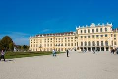 维也纳- 10月14 :10月的美泉宫 免版税库存图片
