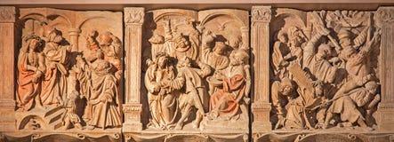 维也纳-耶稣酷刑安心从大教堂的 免版税库存照片