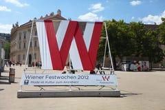 维也纳Festweek的标志2012年 库存照片