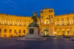 维也纳Hofburg,奥地利 免版税库存照片