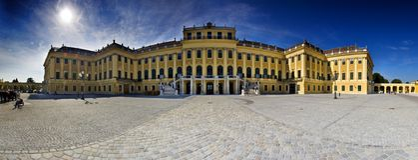 维也纳Schonbrunn宫殿 库存图片