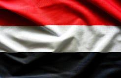 也门挥动的旗子 免版税库存图片