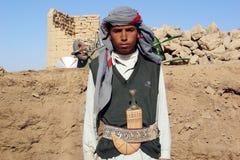 也门男孩 图库摄影