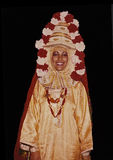 从也门的传统新娘礼服在以色列 库存图片