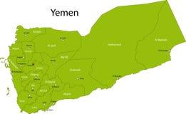 也门的映射 皇族释放例证