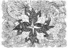 也corel凹道例证向量 乱画图画 冥想的锻炼 成人的彩图反重音 免版税库存图片