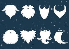 也corel凹道例证向量 圣诞老人胡子的套  胡子ele 免版税图库摄影