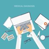 也corel凹道例证向量 平的医疗背景 医疗保健急救,研究心脏病学 医学研究 化学制品 库存例证