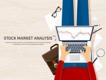 也corel凹道例证向量 平的背景 市场贸易 贸易的平台,帐户 赚钱,事务 无政府主义 投资 向量例证