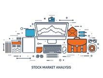 也corel凹道例证向量 平的背景 市场贸易 贸易的平台,帐户 赚钱,事务 无政府主义 投资 库存例证