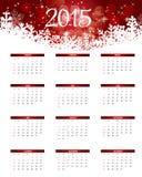 也corel凹道例证向量 2015新年日历 库存照片