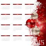 也corel凹道例证向量 2015新年日历 免版税库存图片