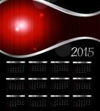 也corel凹道例证向量 2015新年日历 免版税库存照片