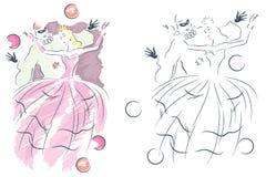 也corel凹道例证向量 男人和妇女化妆舞会的 免版税图库摄影