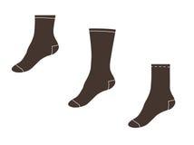 也corel凹道例证向量 设置袜子 免版税库存图片