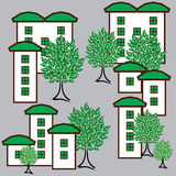 也corel凹道例证向量 Eco市生存概念 免版税库存照片