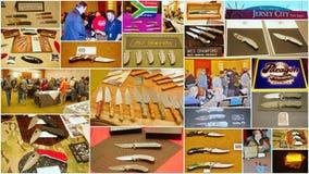 习惯刀子展示2015年在泽西城美国 免版税库存照片