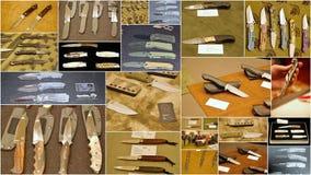 习惯刀子展示2015年在泽西城美国 图库摄影