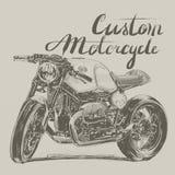 习惯摩托车横幅 库存照片