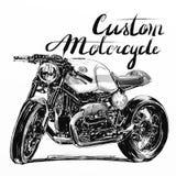 习惯摩托车横幅 免版税图库摄影