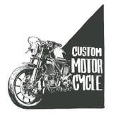 习惯摩托车海报 免版税图库摄影